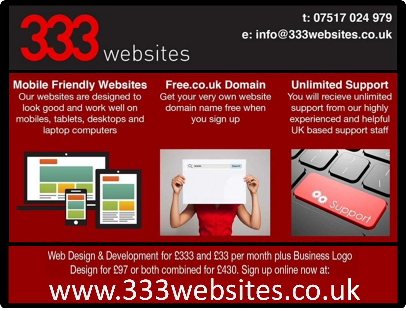 Affordable Websites in North of England Online