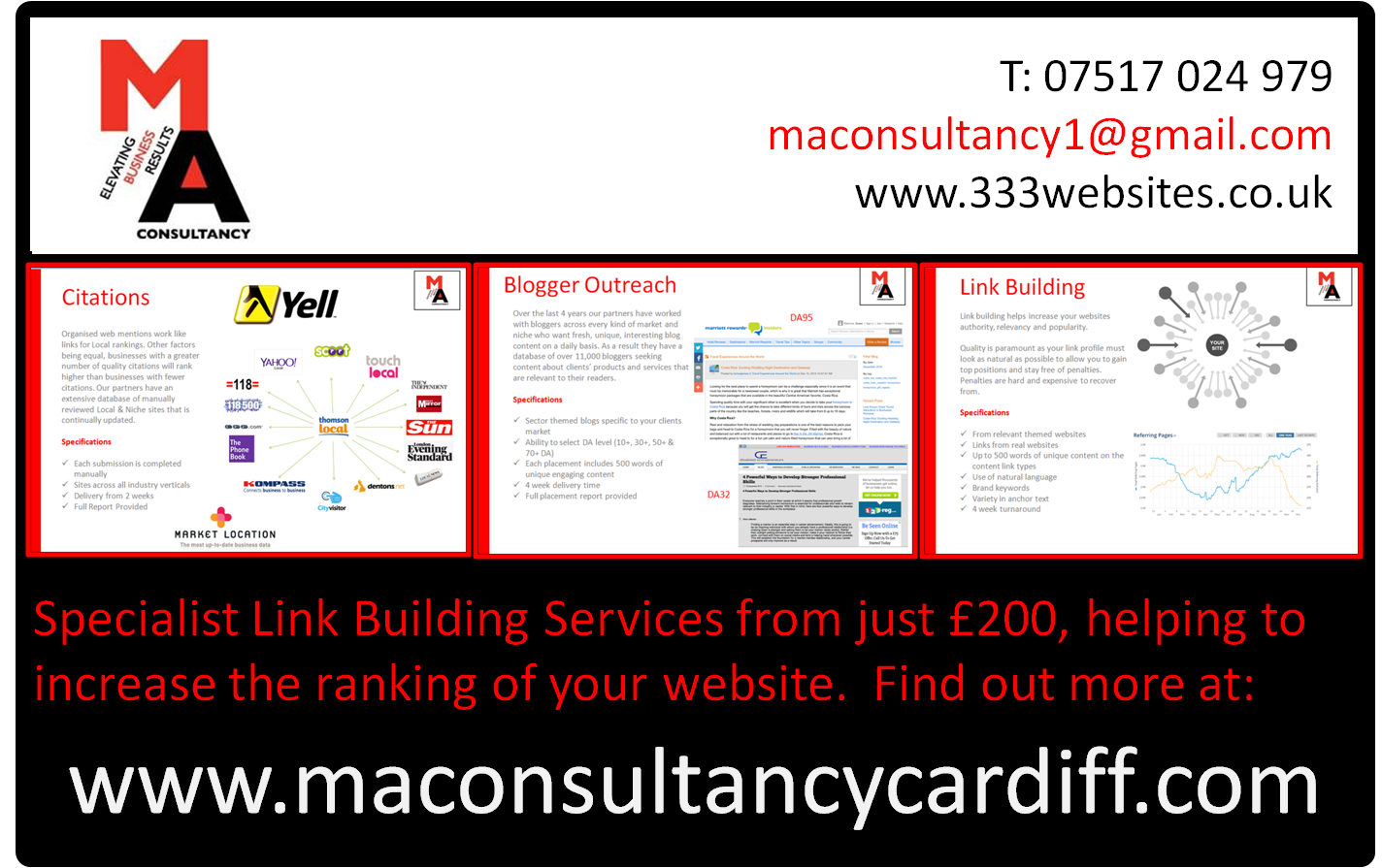 Link Building Services Cardiff, South Wales, Wales