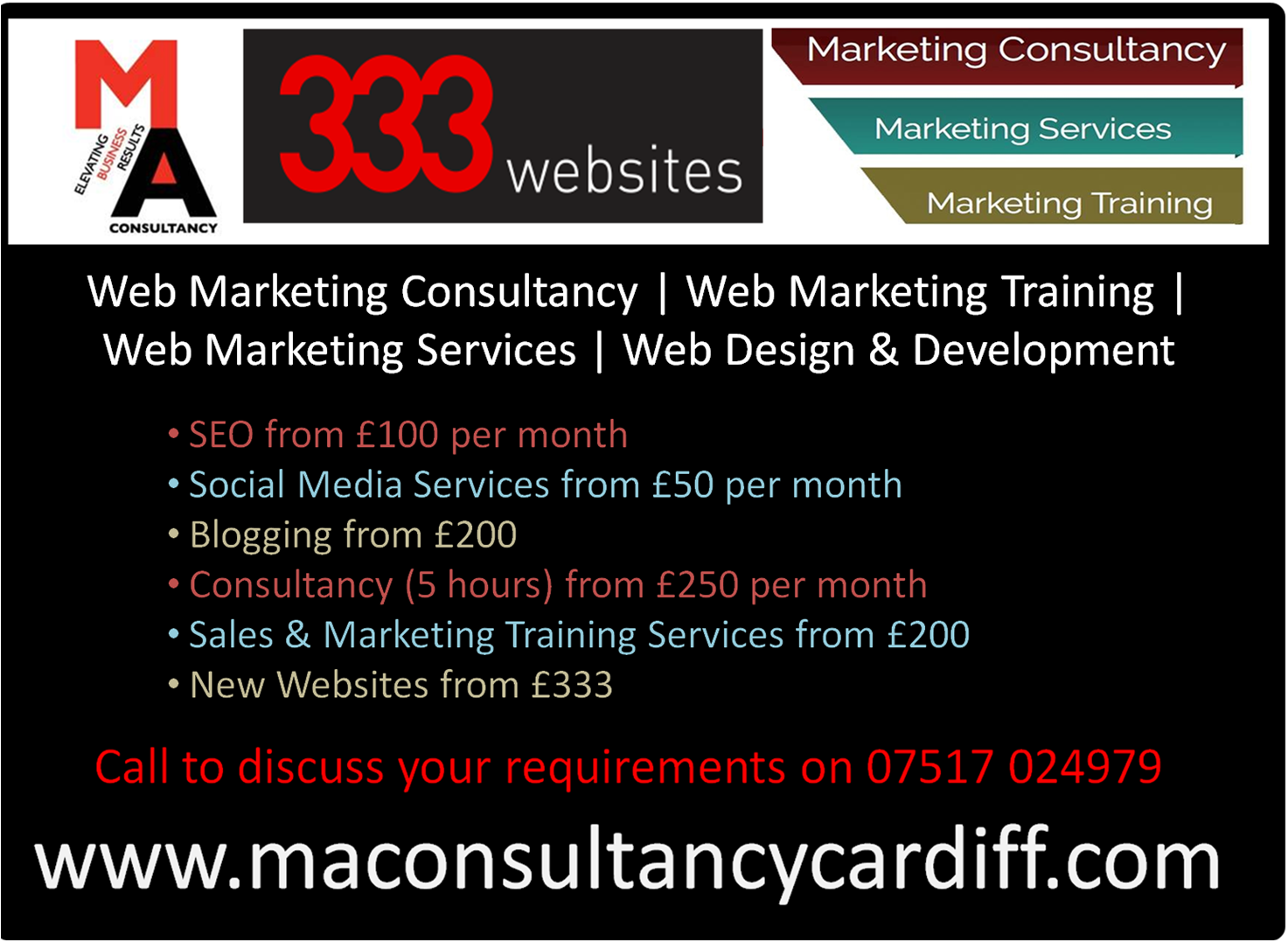 Web Marketing Consultancy, Training & Services