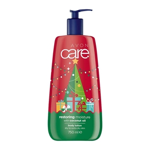 Avon Care Limited Edition Festive Restoring Moisture with Coconut Oil Body Lotion - 750ml.