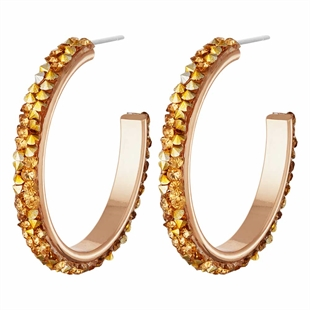 Casie Crystal Stone Set Hoops - Various Colours